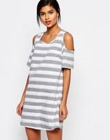 Vero Moda Stripe Cold Shoulder Dress