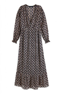 Maison Scotch Print Maxi Dress - Medium