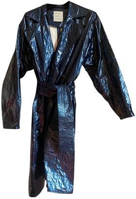 Maison Rabih Kayrouz Navy Synthetic Trench coats