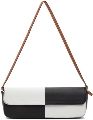 Abra Black and White Big Baguette Bag