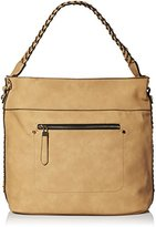 MG Collection Woven Shoulder Bag