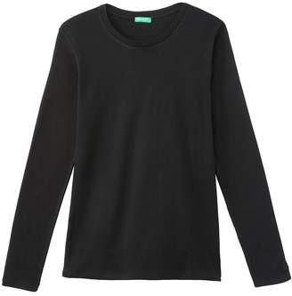 Benetton Cotton Crew Neck Long-Sleeved T-Shirt