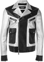 DSQUARED2 two tone leather jacket