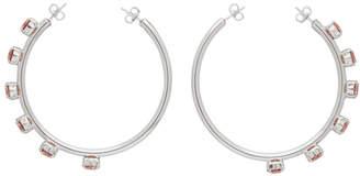 Dheygere SSENSE Exclusive Silver and Pink Vice Versa Hoop Earrings