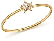 Zoë Chicco 14K Yellow Gold Itty Bitty Diamond Star Ring