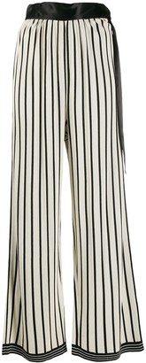 Jean Paul Gaultier Pre-Owned 1988 striped palazzo trousers