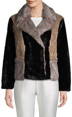 Rebecca Taylor Long-Sleeve Faux Fur Jacket
