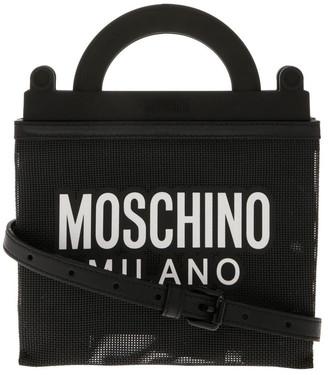 Moschino Logo Zip Top Shoulder Bag