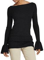 Lauren Ralph Lauren Ruffled Cotton-Blend Top