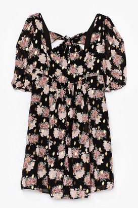 Nasty Gal Womens Summer Days Floral Mini Dress - Black - 4, Black