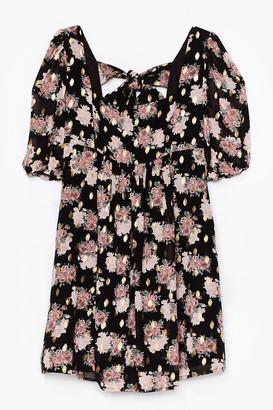 Nasty Gal Womens Summer Days Floral Mini Dress - Black
