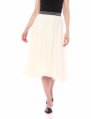 Cupcakes And Cashmere Women's Livia Chiffon Skirt with Metallic Stripe Elastic Waistband