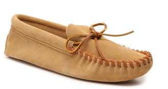 Minnetonka Leather Laced Slipper