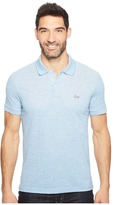 Lacoste Father's Day Linen/Cotton Birds Eye Jaspe Effect Pique Polo Men's Clothing