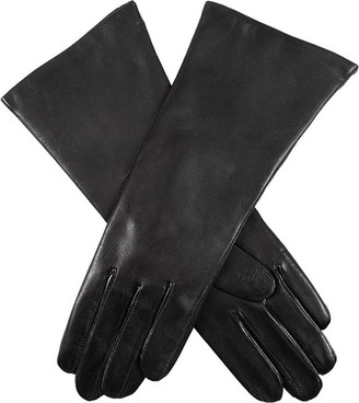 Dents Womens Helene Cashmere Lined Hairsheep Leather Gloves - Black - Black - Small-Medium