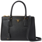 Prada Galleria Double Zip Small Saffiano Leather Tote