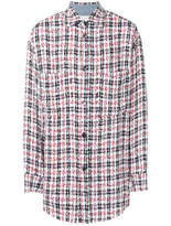 Faith Connexion Button-down Plaid Shirt - Multicolor - Size XL