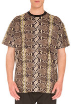 Givenchy Columbian-Fit Snakeskin-Print T-Shirt, Multicolor