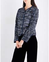 Armani Collezioni Collarless metallic-tweed jacket