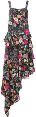 Nicole Miller ditzy dandelion asymmetrical dress