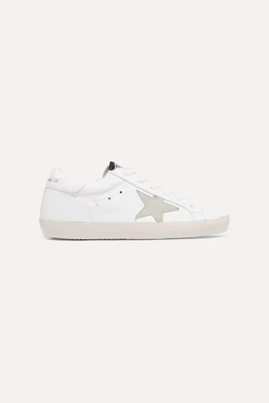 Golden Goose Superstar Leather And Suede Sneakers - White