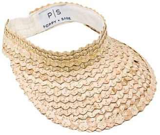 Poppy + Sage Straw Sun Visor - Natural