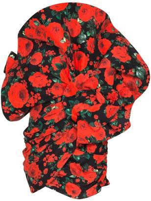 Magda Butrym Belgrade rose-print silk mini dress
