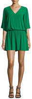 Alice + Olivia Lyla V-Neck Blouson Dress, Green