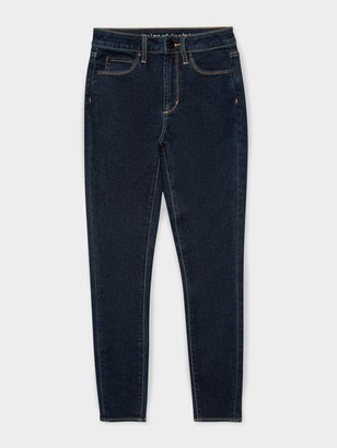 Articles of Society High Lisa Skinny Ankle Jeans in Dark Mid Wash Denim