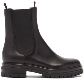 Gianvito Rossi Leather Chelsea Boots - Black