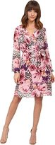 Jessica Simpson Women's Long Sleeve Printed Dress