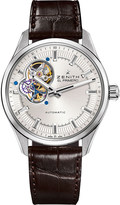 Zenith 03.2170.4613/01.C713 El primero synopsis stainless steel and alligator leather watch