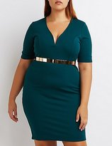 Charlotte Russe Plus Size Notched Bodycon Dress