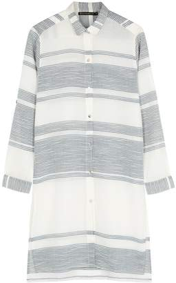Vix Paula Hermanny V I X Paula Hermanny Ada Striped Ramie Shirt Dress