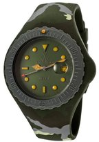 Toy Watch Women's Jelly Green Dial Green Camouflage Silicone