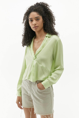 Urban Outfitters Miley Twist Front Blouse