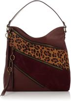 Sharif Leather, Suede and Haircalf Zipper Hobo