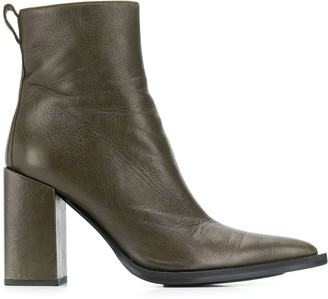 Ami Paris Chunky Heel Ankle Boots