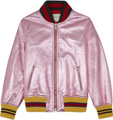 Gucci Metalic leather bomber jacket 8-12 years
