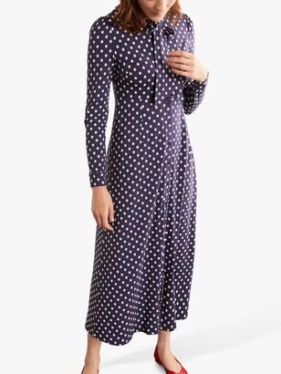 Boden Mirabelle Polka Dot Shirt Dress, Navy