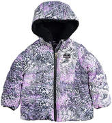Skechers Girls' Puffer Coats SNAKE - Purple Snake Puffer Jacket - Infant & Girls
