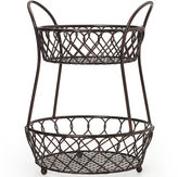 Mikasa Loop & Lattice 2-Tier Basket