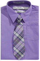 Perry Ellis Easy-Care Dress Shirt and Tie Set