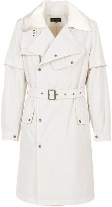 Mr & Mrs Italy Nick Wooster Capsule Unisex Trench With Lamb Fur