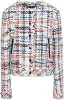 Rag & Bone Leather-trimmed Frayed Tweed Jacket