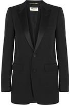 Saint Laurent Satin-trimmed Wool Tuxedo Blazer - FR34
