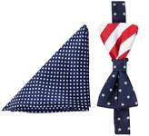 Alara Silk Lincoln Bow Tie & Pocket Square Set