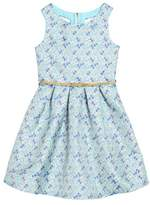 Trixxi Girl's Jacquard Print Dress