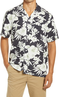 NN07 Paris Floral Men's Button-Up Camp Shirt