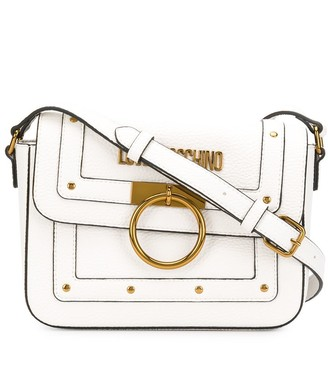 Love Moschino stud detail logo plaque satchel bag